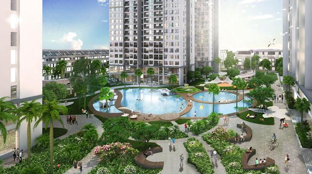 Bể bơi ngoài trời theo tiêu chuẩn quốc tế của dự án Louis City