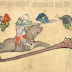 Ritter, die gegen Schnecken kämpfen