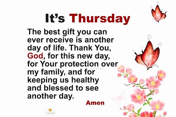 It's Thursday!