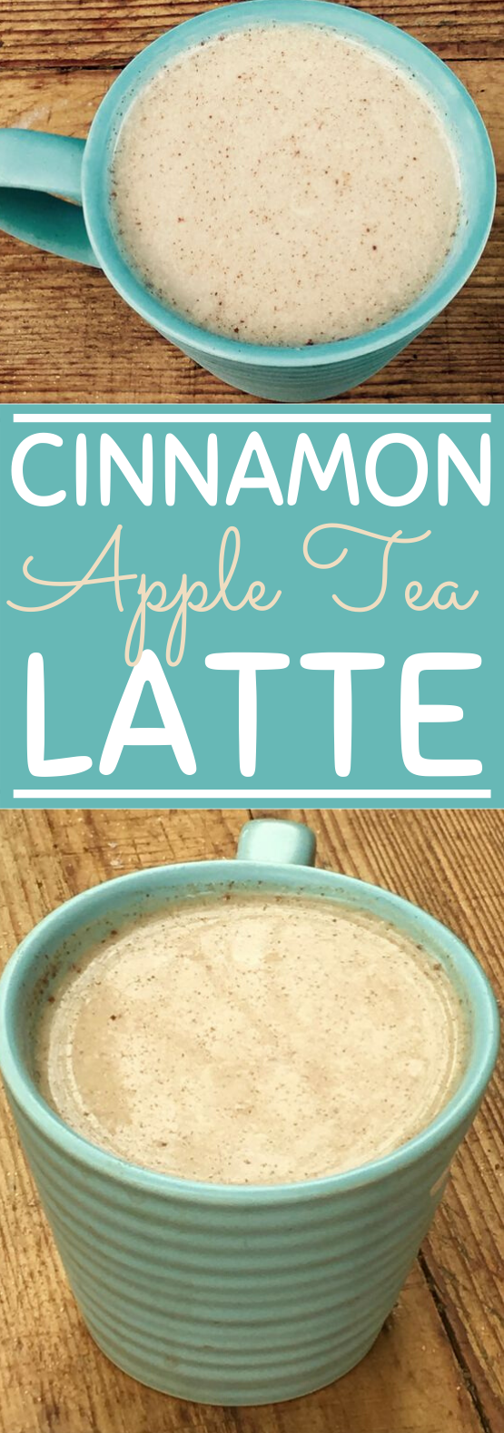 Cinnamon Apple Tea Latte #drinks #latte #tea #winter #recipes