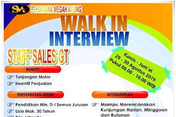 Lowongan Kerja Staff Sales GT PT. Sasana Megah Agung