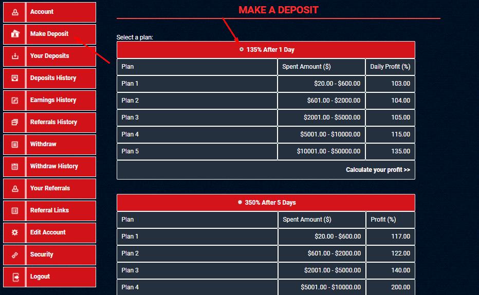 Регистрация в OIL-TNX 3