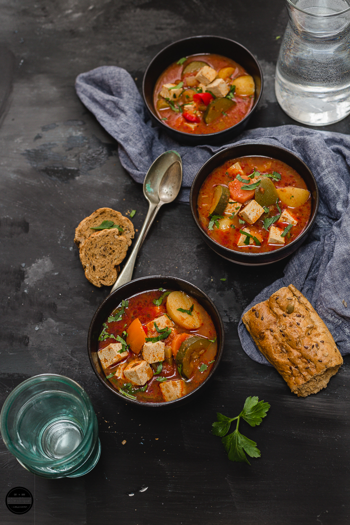 This hearty and comforting Vegan Hungarian Goulash is an easy, healthy and tasty recipe that can be great cozy winter treat or in my case all year around! A vegan spin or take on the traditional Hungarian Goulash prepared in a rich and delicious tomato base with chunky vegetables and Tofu with lots of sweet Hungarian paprika!