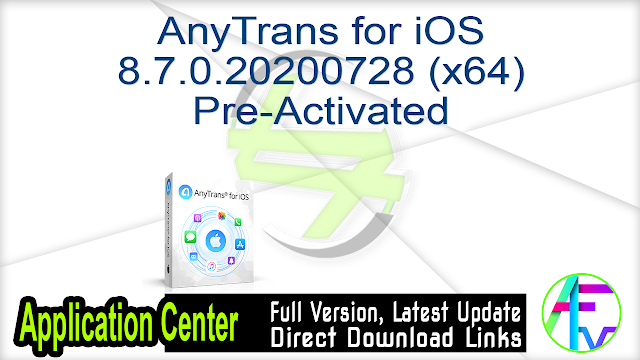 AnyTrans for iOS 8.7.0.20200728 (x64) Pre-Activated