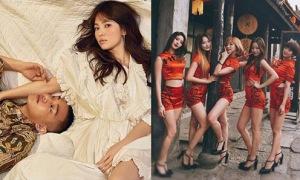 Sao Hàn 23/2: Song Hye Kyo tình tứ bên Yoo Ah In, EXID chân dài hút mắt
