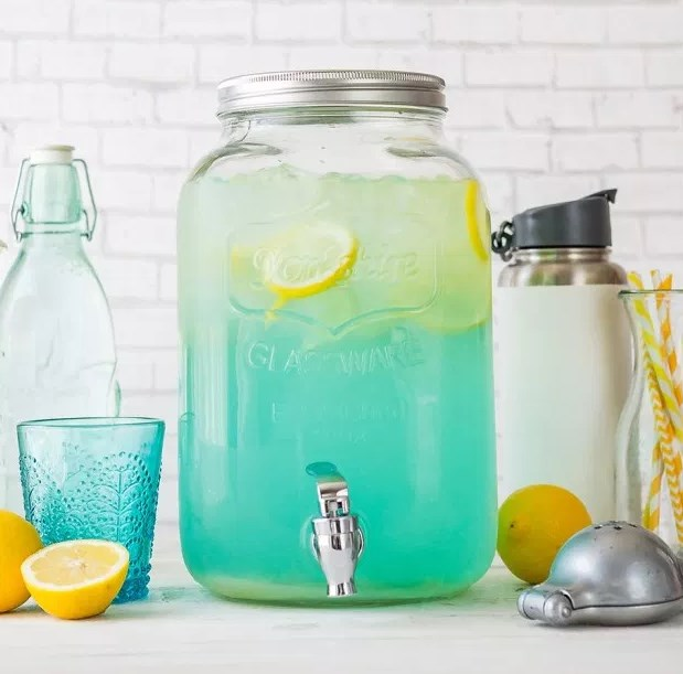 Blue Lemonade Party Punch #drinks #partydrink