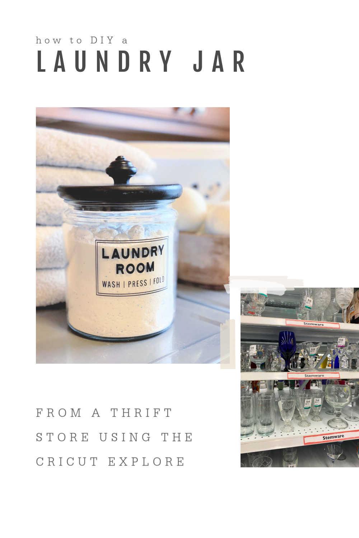 HOW TO DIY LAUNDRY ROOM JAR WITH CRICUT