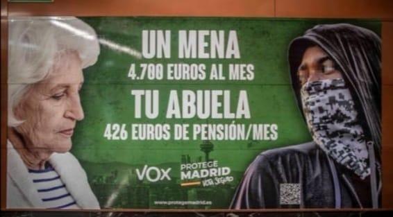 Cartelería Vox. Madrid
