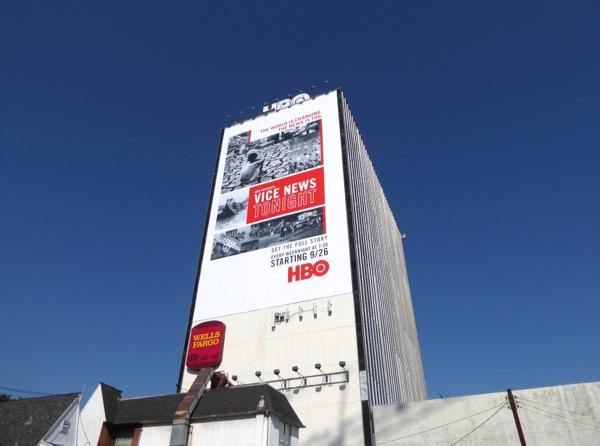 Vice News Tonight series launch billboard