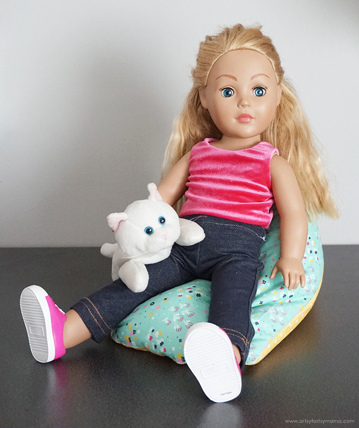 "DIY 18"" Doll Bean Bag Chair"