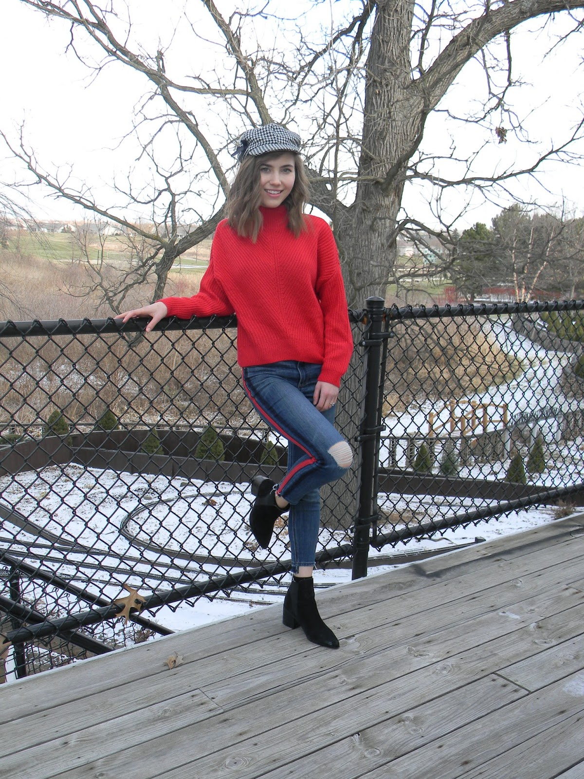 HALFSTACK MEDIA: How to Style: Bright Red Sweater