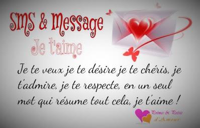 SMS d'amour pour dire : Je te veux je te désire je te chéris, je t'admire, et je t'aime