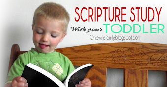 Scripture Study with toddler