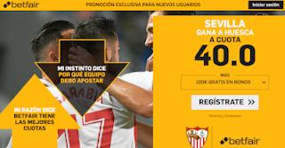 betfair supercuota Sevilla gana al Huesca 28 octubre