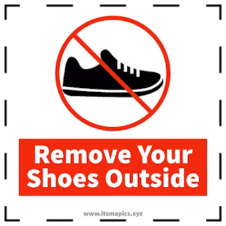 please leave your shoes outside signage free image