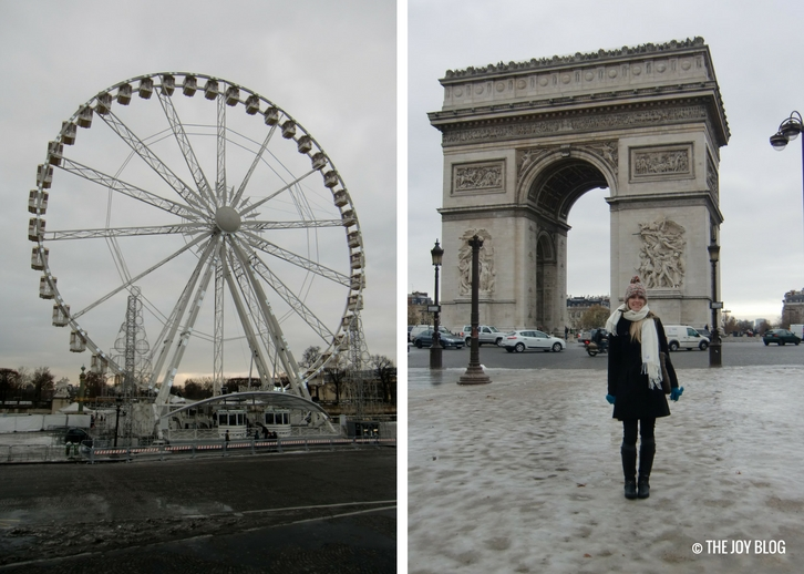 Ferris Wheel & Arc de Triomphe | That One Time I Went to Paris // WWW.THEJOYBLOG.NET