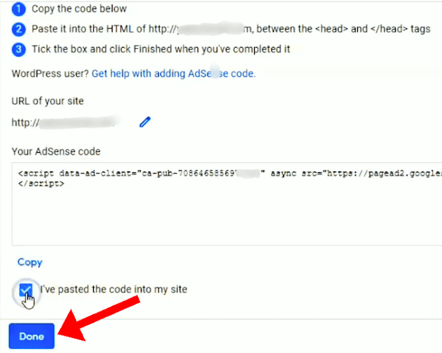 Adsense Ad Code in Head Tag