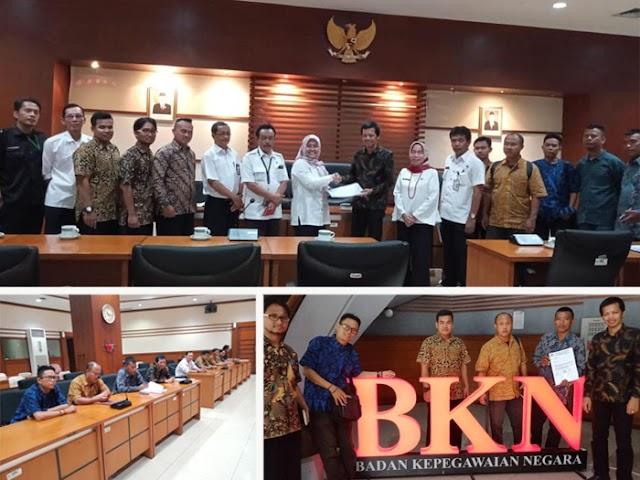 Honorer K2 Audiensi dengan Badan Kepegawaian Negara (BKN)