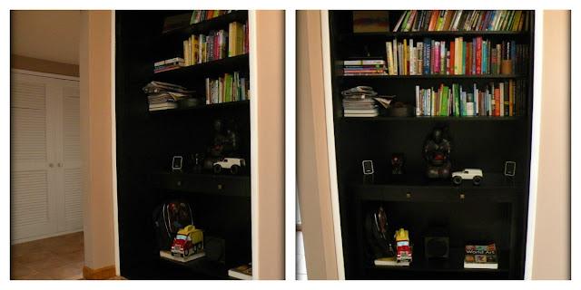 turning our closet into a bookshelf