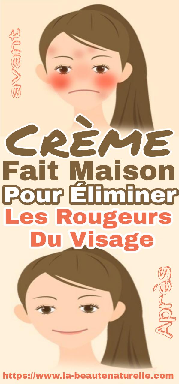 Crème fait maison pour éliminer les rougeurs du visage