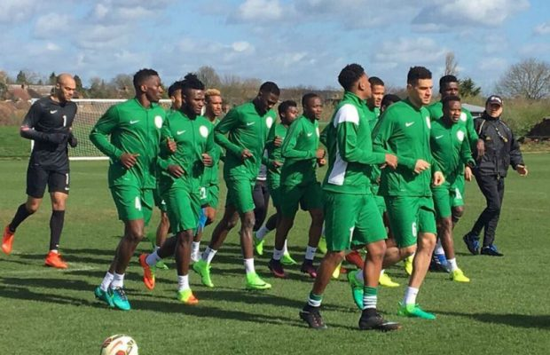 Nigeria Super Eagles players training