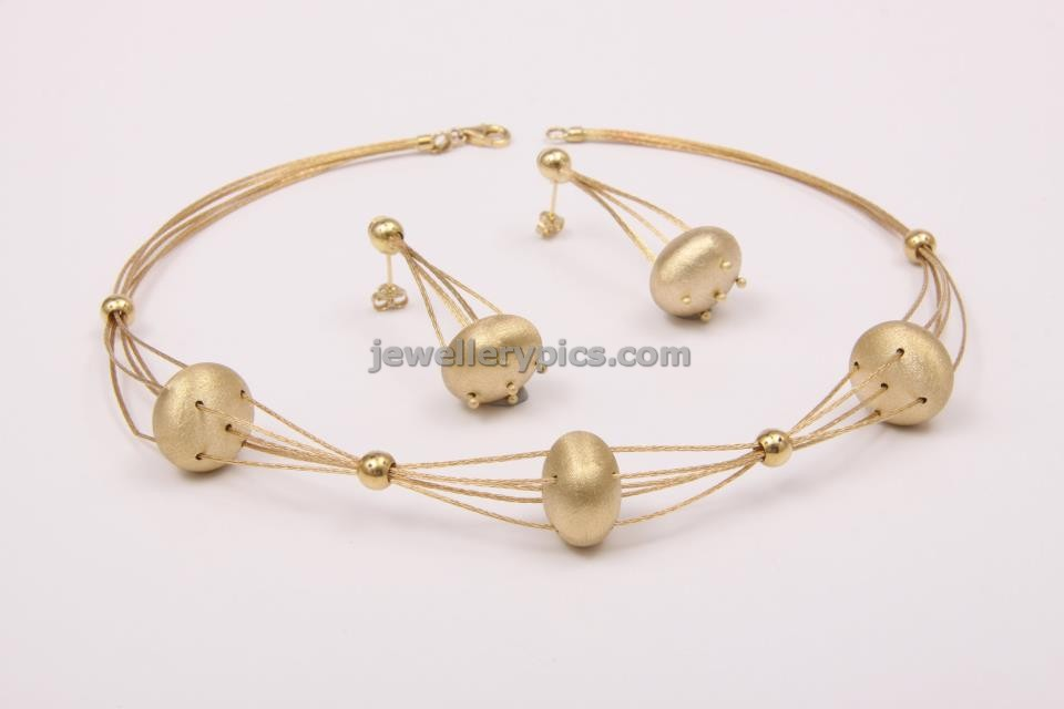 18 karat Italian gold jewellery set designs by CK chetty Latest
