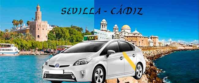 Precio taxi Sevilla-Cádiz