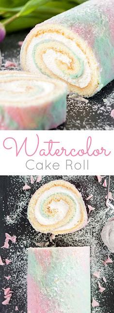 Watercolor Cake Roll