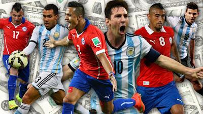 موعد توقيت مباراة الارجنتين وتشيلي يوم الاثنين 27 يونيو 2016