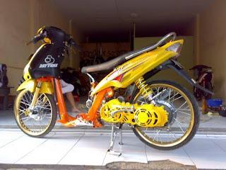 modifikasi motor mio 2007 terkeren
