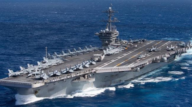 Tiga Kapal Induk AS yang Bawa Ratusan Jet Tempur F-18 Tiba di Laut China Selatan