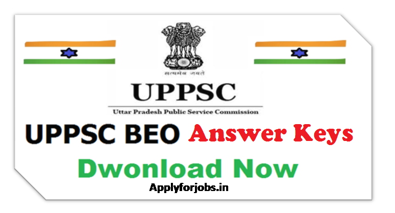 UPPSC BEO Answer Key 2020, applyforjobs.in