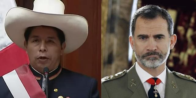 Pedro Castillo y Felipe VI