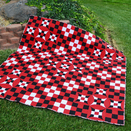 Nine Patch Fun Quilt designed by Melissa Corry from Happy Quilting for AccuQuilt