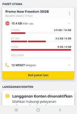Kuota Lokal Indosat Tidak Bisa Terpakai
