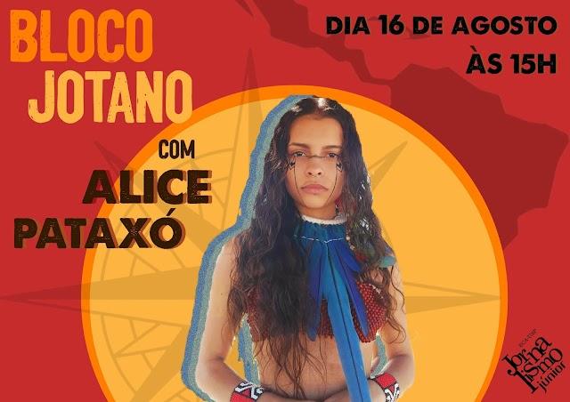 """Voz indígena no """"Bloco Jotano"""": Alice Pataxó dá entrevista à empresa júnior de jornalismo da USP"""