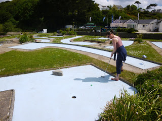 Crazy Golf course in Falmouth, Cornwall