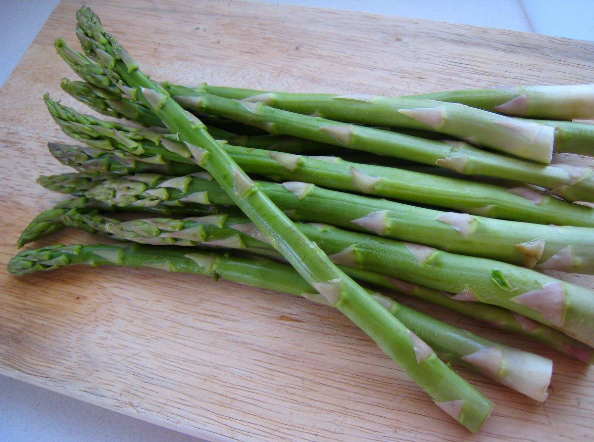Fresh asparagus stalks