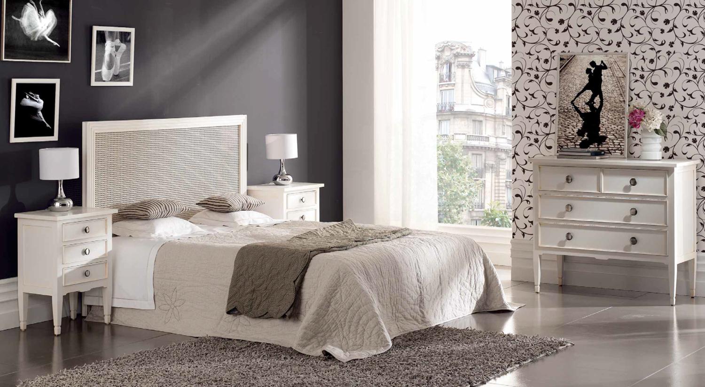 Muebles de dormitorio dormitorios en color blanco for Muebles provenzales ikea