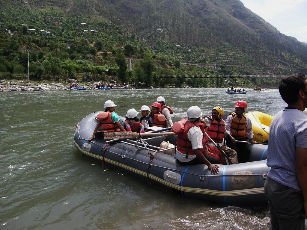 white water rafting at river Beas