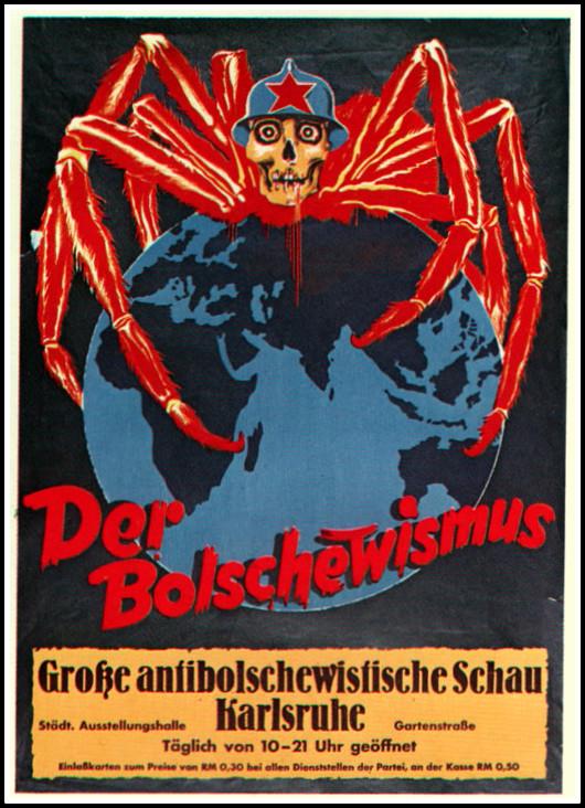 Немецкий антисоветский плакат времен второй мировой войны