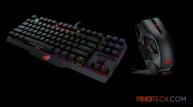 Keyboard Mouse Gaming ASUS - ROG Claymore & Spatha