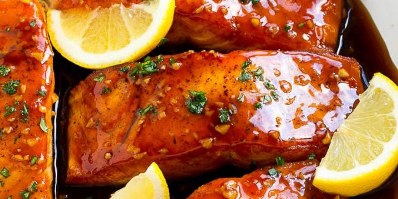 Perfect Honey Garlic Glazed Salmon