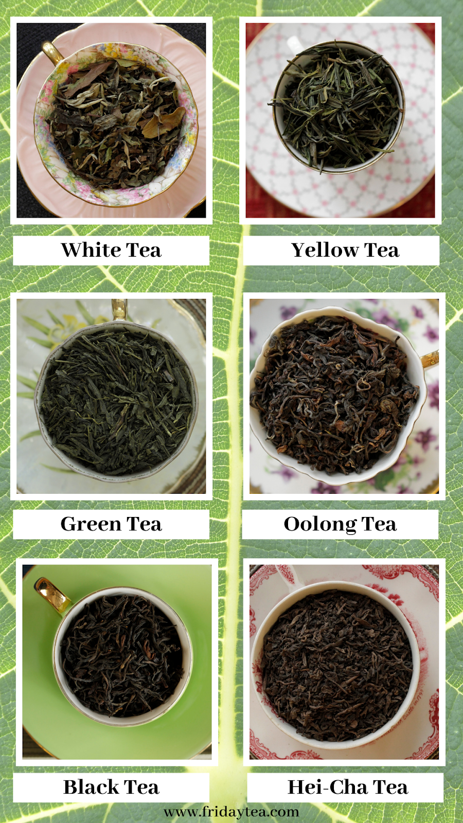 Six True Types Of Tea