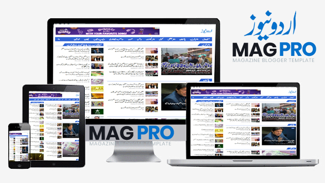 MagPro Urdu News-Responsive Urdu News & Magazine Blogger Template