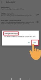 enable signal for sms