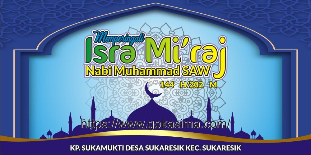 Contoh Baliho Peringatan Isra Miraj - desain spanduk keren
