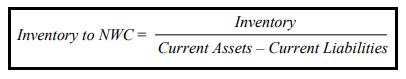 Rumus Inventory to net working capital