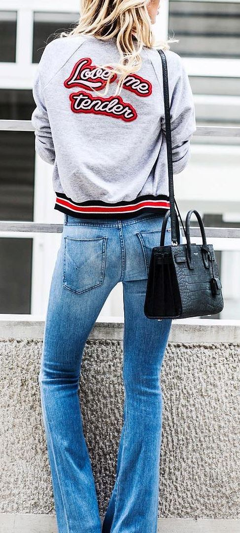 street style addiction: bag + jeans + jacket