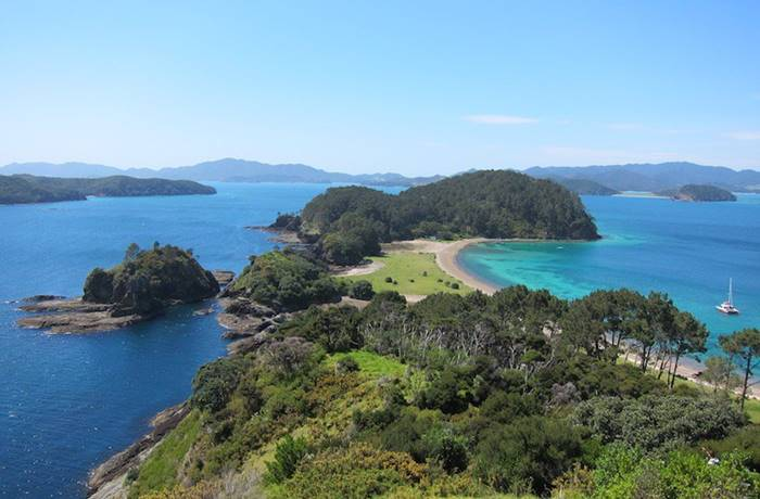 Bay of Islands is one of New Zealand's most popular tourist attractions. The picturesque corner contains 144 islands, many secluded bays and sandy beaches.